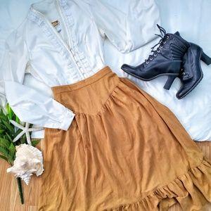 *Vintage Skirt V Front Flared*